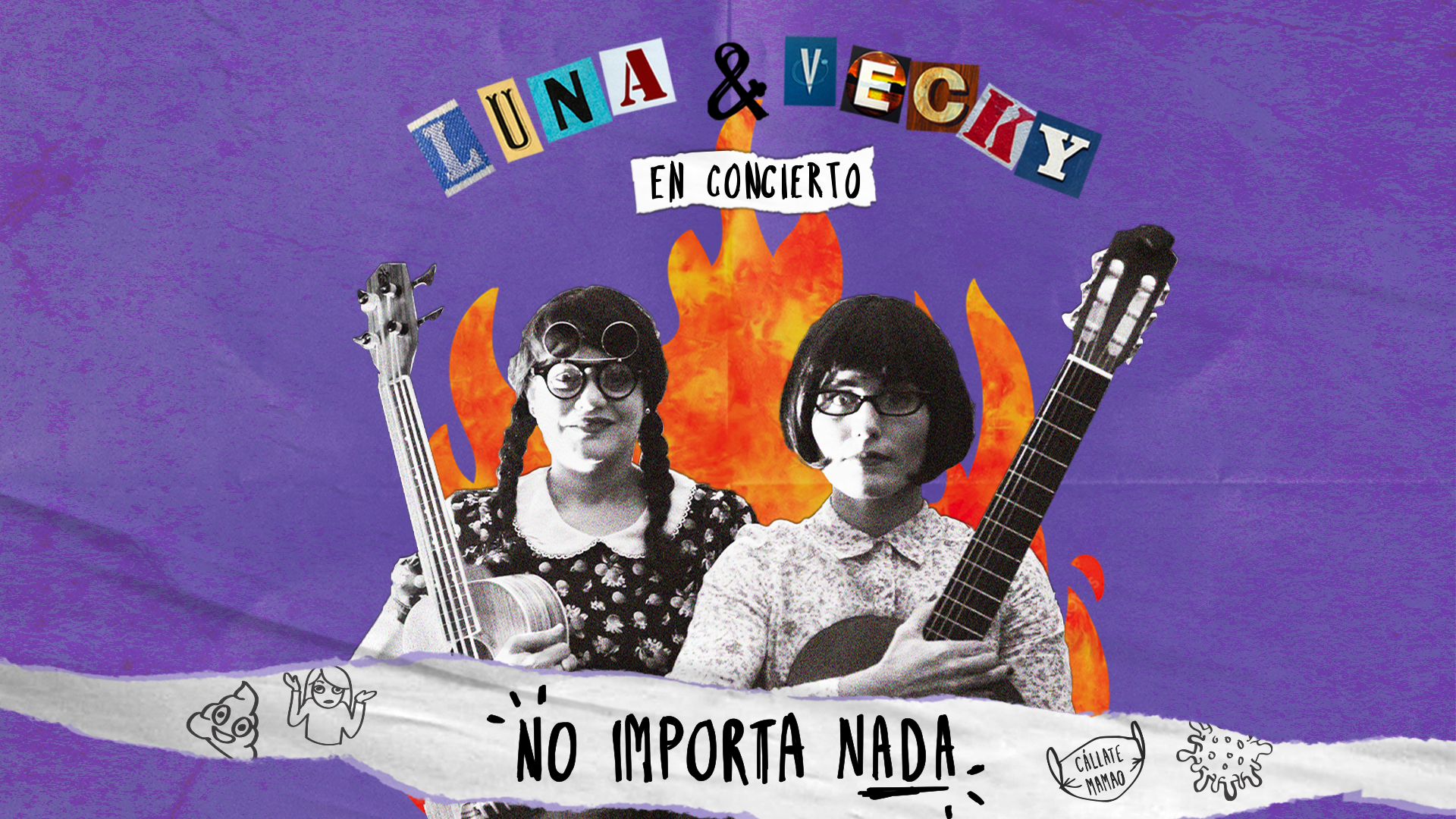 Luna y Vecky se presentarán en concierto virtual